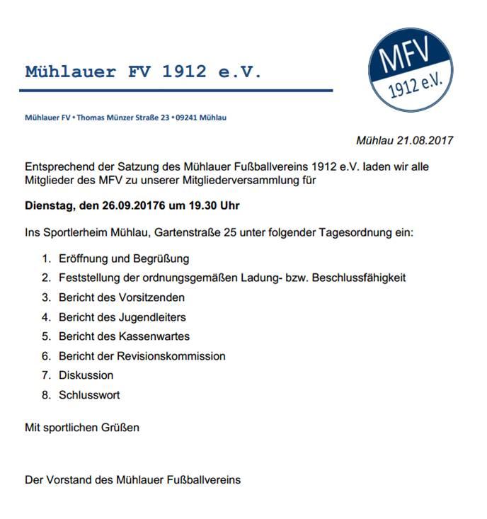 Mühlauer Fv 1912 Ev Blog Archive Einladung Zur